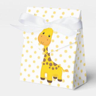 Cute Giraffe and Yellow Dots Favor Box