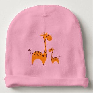 Cute Giraffe-&-Baby Cotton Beanie Baby Beanie