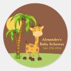 Cute Giraffe Baby Shower Sticker