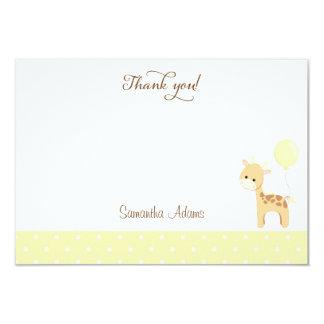 Cute Giraffe Baby Shower Thank You Card