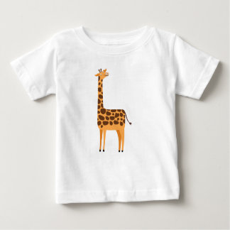 Cute Giraffe Cartoon Animal Baby T-Shirt