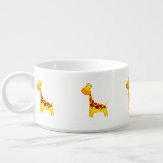 Cute giraffe cartoon bowl