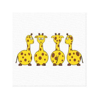 Cute Giraffe Cartoon Gallery Wrap Canvas