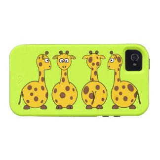 Cute Giraffe Cartoon Case-Mate iPhone 4 Covers