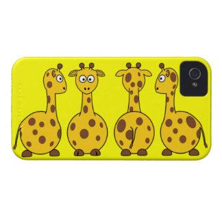 Cute Giraffe Cartoon Case-Mate iPhone 4 Case