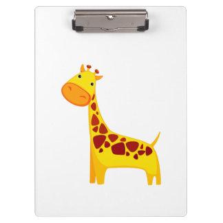 Cute giraffe cartoon clipboard