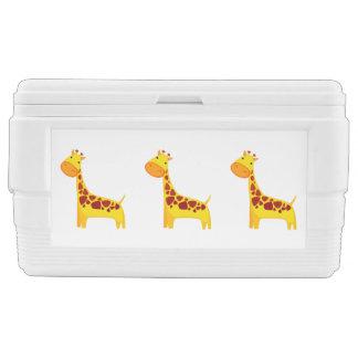 Cute giraffe cartoon cooler
