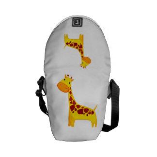 Cute giraffe cartoon courier bag