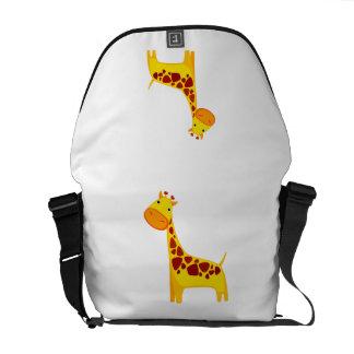 Cute giraffe cartoon messenger bags