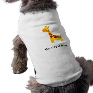 Cute giraffe cartoon pet t-shirt