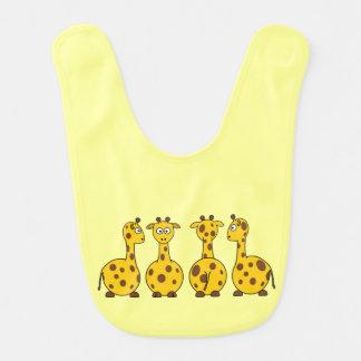 Cute Giraffe Cartoon Bibs