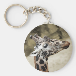 Cute Giraffe Close-up Of Head and Neck Keychains