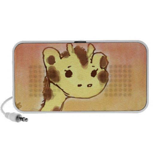 Cute Giraffe Doodle Speaker