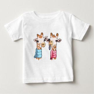 Cute Giraffe Drawing Gender Neutral Baby Shirt