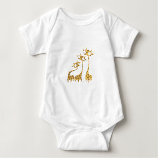 Cute Giraffe Family - Savannah Animals Baby Bodysuit