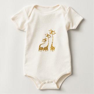 Cute Giraffe Family - Savannah Animals Baby Bodysuit