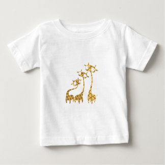 Cute Giraffe Family - Savannah Animals Baby T-Shirt