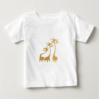 Cute Giraffe Family - Savannah Animals Baby T-Shirt