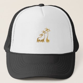 Cute Giraffe Family - Savannah Animals Trucker Hat