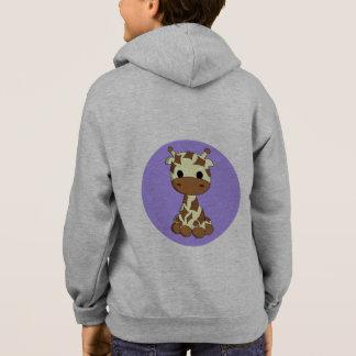Cute giraffe kawaii cartoon  name kid's hoodie