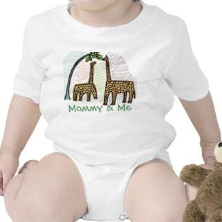 Cute Giraffe Mommy Me Infant T Romper