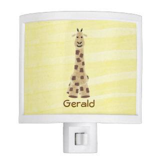 Cute Giraffe Nursery Night Light with yellow