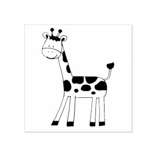 cute giraffe rubber stamp