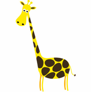 Cute Giraffe Standing Photo Sculpture