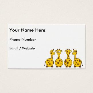 Cute Giraffe, Wild Animal Business Card