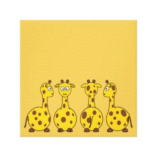Cute Giraffe, Wild Animal Gallery Wrap Canvas