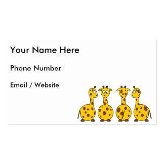 Cute Giraffe, Wild Animal Pack Of Standard Business Cards