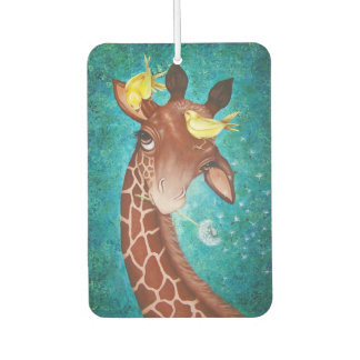 Cute Giraffe with Birds Car Air Freshener