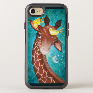 Cute Giraffe with Birds OtterBox Symmetry iPhone 7 Case
