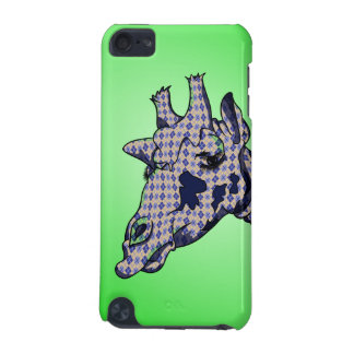 Cute Giraffe with blue patterend skin iPod Touch (5th Generation) Case