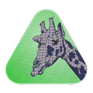 Cute Giraffe with blue patterend skin Speaker