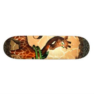 Cute giraffe with dragon, so funny skate deck