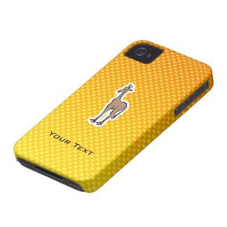 Cute Giraffe; Yellow Orange Case-Mate iPhone 4 Cases