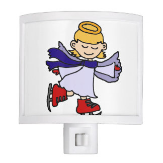 Cute Girl Angel Ice Skating Original Night Lights