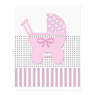 Cute Girl Carriage Postcard