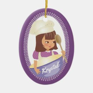 Cute girl chef culinary Christmas Ornament