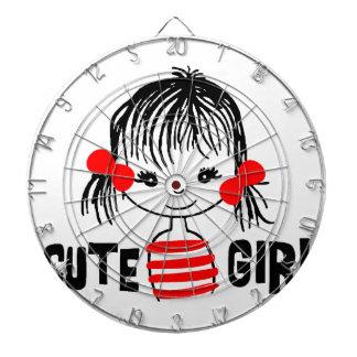 cute girl, cool design dartboard