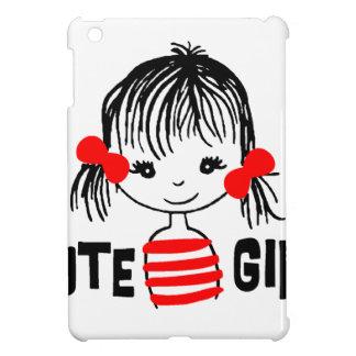 cute girl, cool design iPad mini cover
