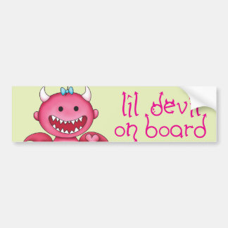 Cute Girl Devil Bumper Sticker