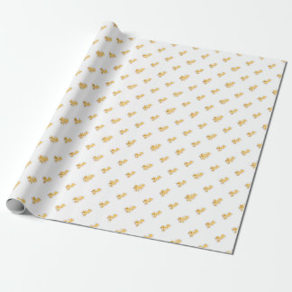 Cute Girl Giraffes Baby Shower Wrapping Paper