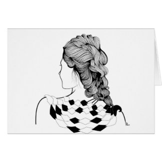 Cute Girl Hairstyle Card