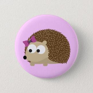 Cute Girl Hedgehog 2 Inch Round Button