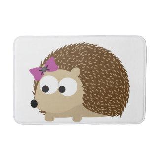 Cute Girl Hedgehog Bathroom Mat