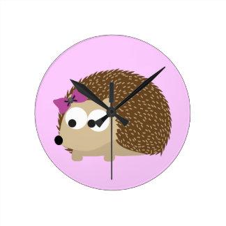 cute Girl hedgehog Clock