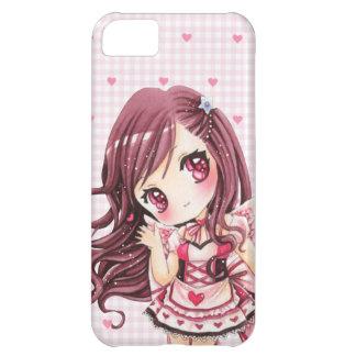 Cute girl in kawaii pink lolita dress case for iPhone 5C