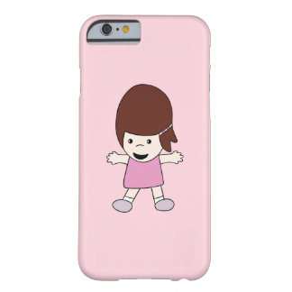Cute Girl in Pink Barely There iPhone 6/6s Case